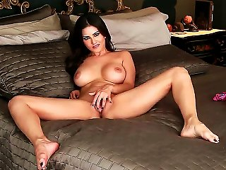 Gorgeous Lady Sunny Leone In Beautiful Lingerie Loves To Stimulate Her Gentle Pussy That Becomes Wet After Playing With Her Big Boobs.