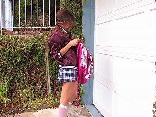 Sexy Teen In Schoolgirl Uniform Is Fucked Hard