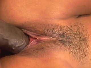 Ultra Tight Asian Bitch Fucks A Black Dick