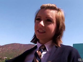 Girlish Slut, Lexi Belle, Plays An 18yearold Schoolgirl, Wearing A Traditional School Girl