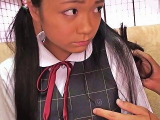 Tiny Busty Japanese Schoolgirl Clit Stimulated