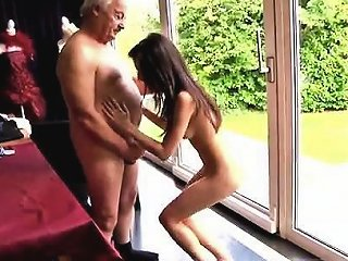 Young Tiny Teen And Old Man Horny Senior Bruce Spots A Lovel